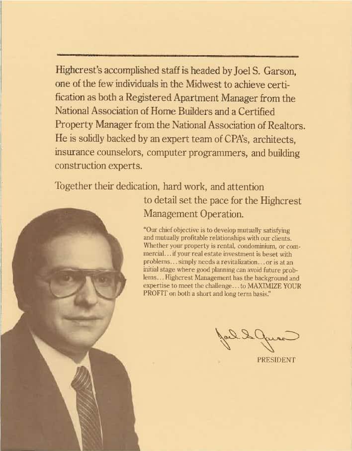 Joel Garson credentials