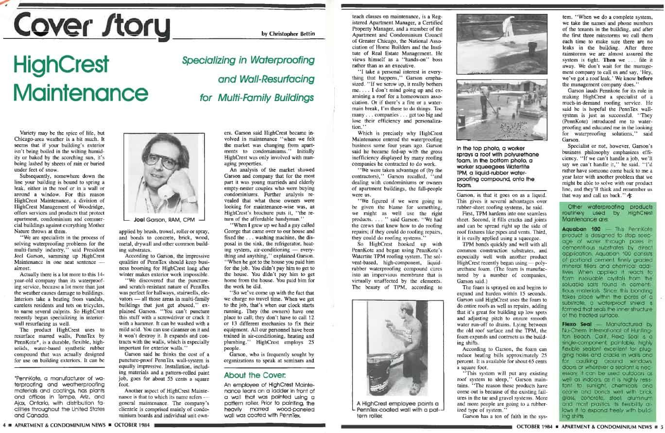 Apartment and Condominium News Cover Story 1984