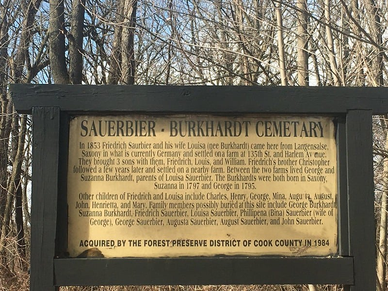 Historic cemetary in Cook County Forest Preserve