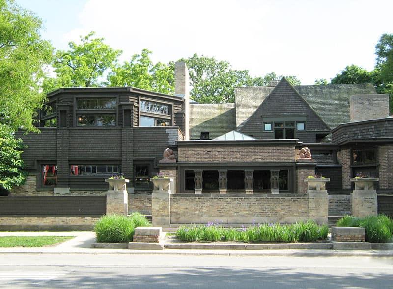 Facade of Frank Lloyd Wright's Home in Oak Park