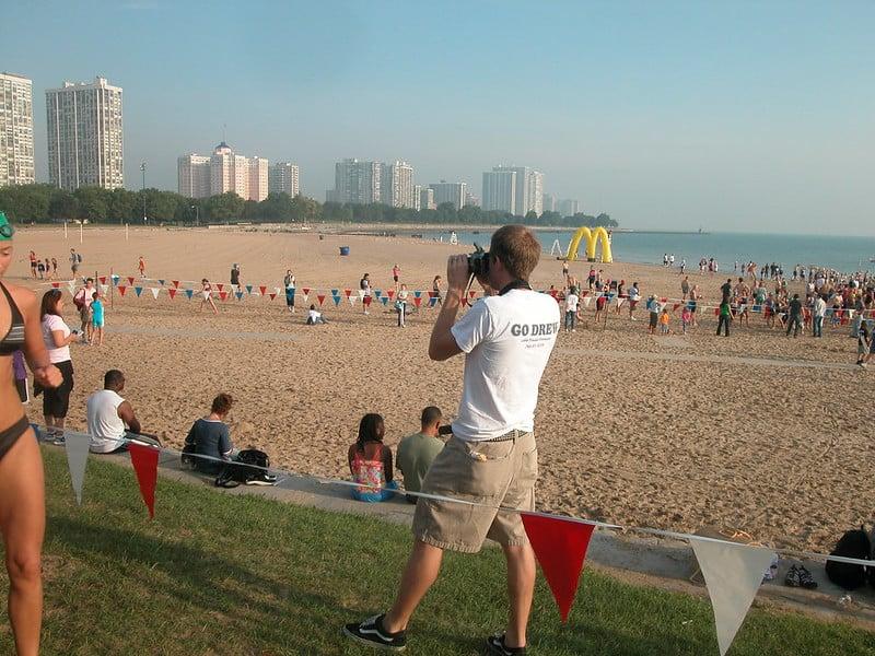 Foster Beach in Chicago