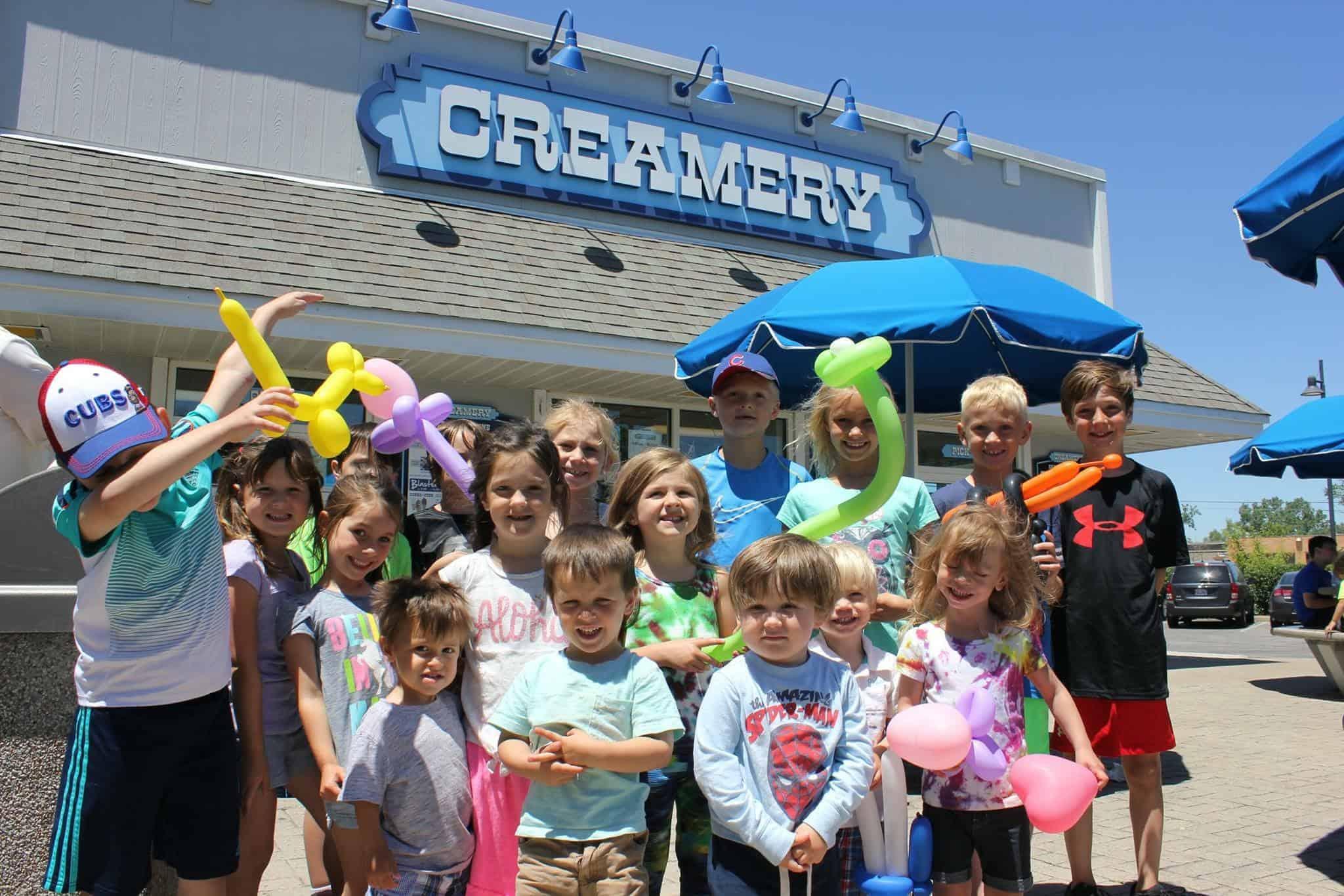 Kids at Creamery